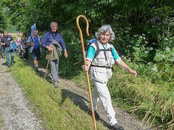 Via romea Wandern auf dem Pilgerpfad